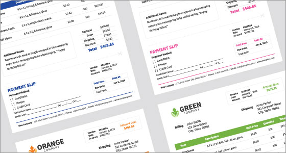 Invoice print design